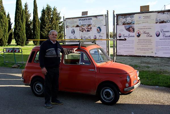 Pensioner, in a small village close to Lecce