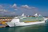 The cruise ship Mariner of the Seas in the port of Civitavecchia near Rome Italy.