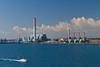 An electric power generating plant near Civitavecchia, Italy.