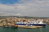 The port of Civitavecchia near Rome Italy.