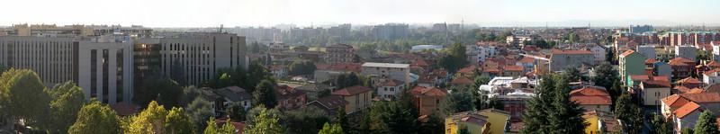 Cologno Monzese, landscape towards the city center. 39 images stitched with Autopano Giga.<br /> <br /> <br /> Cologno Monzese, il panorama verso il centro città. 39 immagini unite con Autopano Giga.