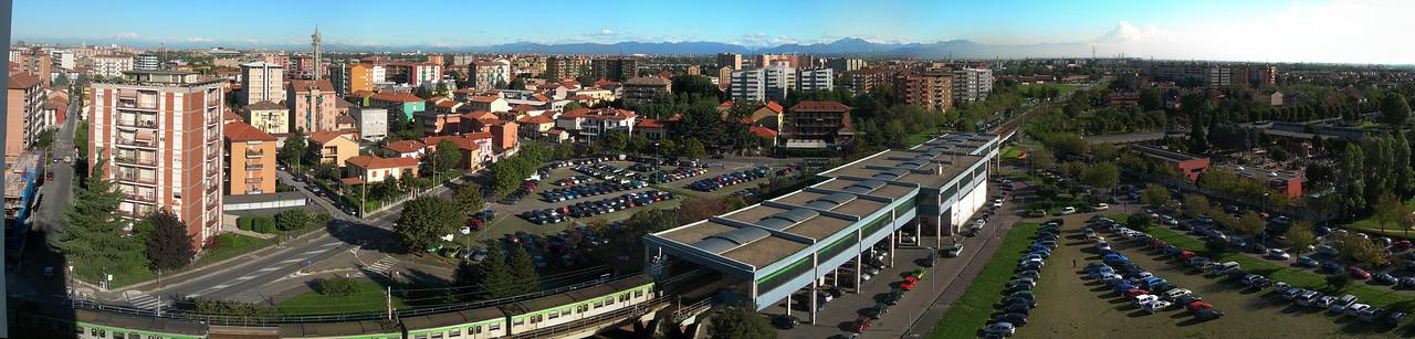 Cologno Monzese, landscape towards the Alps. 24 images stitched with Autopano Giga.<br /> <br /> <br /> Cologno Monzese, il panorama verso le prealpi ed il Resegone. 24 immagini unite con Autopano Giga.