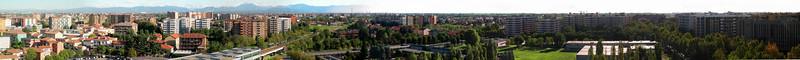 Cologno Monzese, landscape towards Milan. 27 images stitched with Autopano Giga.<br /> <br /> <br /> Cologno Monzese, il panorama in direzione Milano. 27 immagini unite con Autopano Giga.