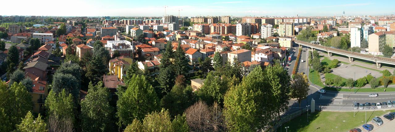 Cologno Monzese, landscape towards Milan. 13 images stitched with Autopano Giga.<br /> <br /> <br /> Cologno Monzese, il panorama verso Milano. 13 immagini unite con Autopano Giga.