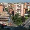 Cologno Monzese, landscape towards the city center. 7 images stitched with Autopano Giga.<br /> <br /> <br /> Cologno Monzese, il panorama verso il centro città. 7 immagini unite con Autopano Giga.