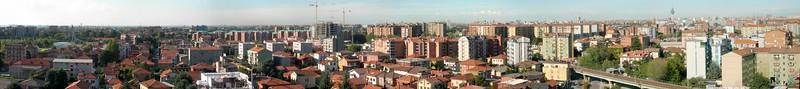 Cologno Monzese, landscape towards Milan. 39 images stitched with Autopano Giga.<br /> <br /> <br /> Cologno Monzese, il panorama verso Milano. 39 immagini unite con Autopano Giga.
