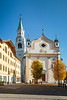 The Roman Catholic parish church in Cortina, Veneto, Italy, Europe.