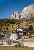 The town of Cortina at the base of the Dolomites, Veneto, Italy, Europe.