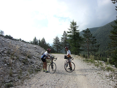 Saddle adjustment, Passo di Cimabanche from Cortina