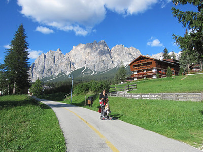 Bike path from Cortina d'Ampezzo