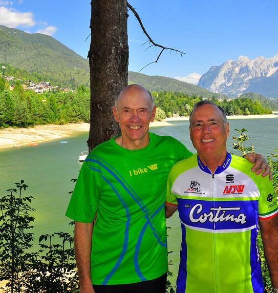 Jack and Skip at Lake Calalzo