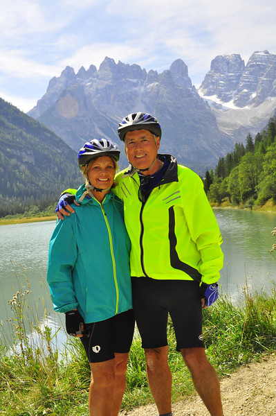Skip and Sue at Toblacher Lake