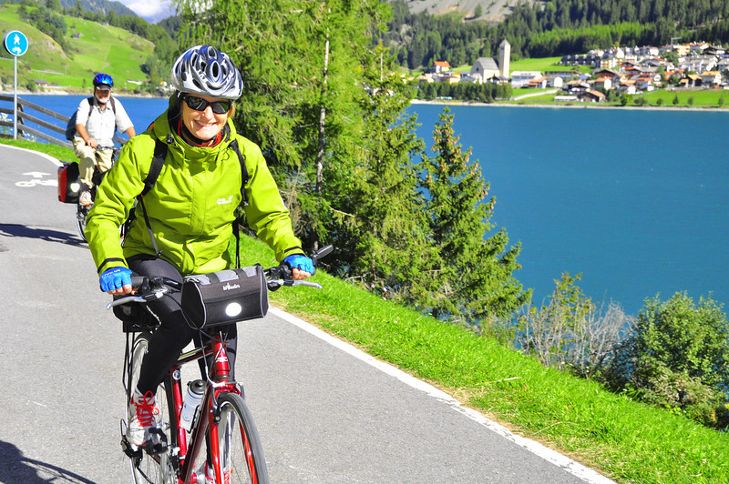 Tiziana at the start of the descent