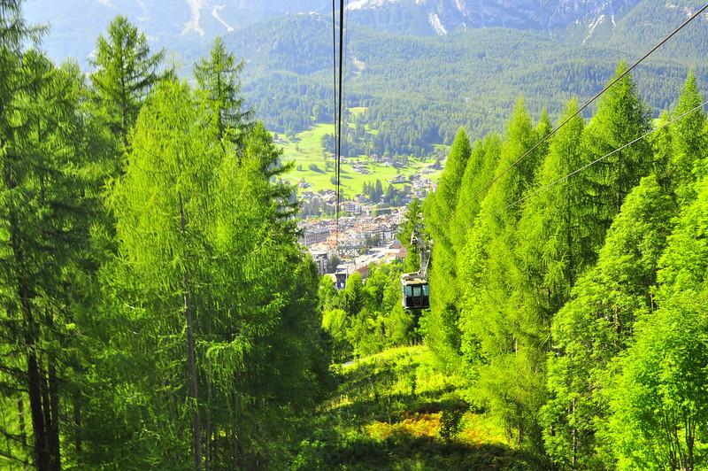 aerial tram to Cortina ski chalet