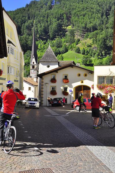 tiny village below the monastery