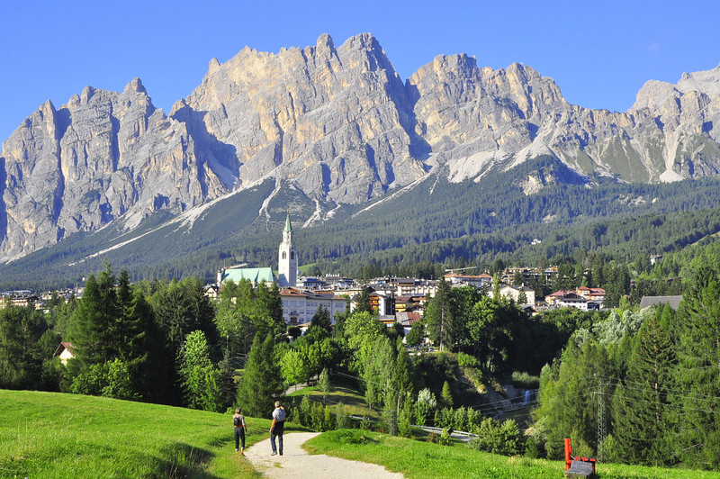 Cortina from the walking path