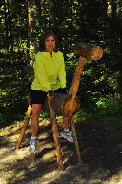 Gloria on deerback