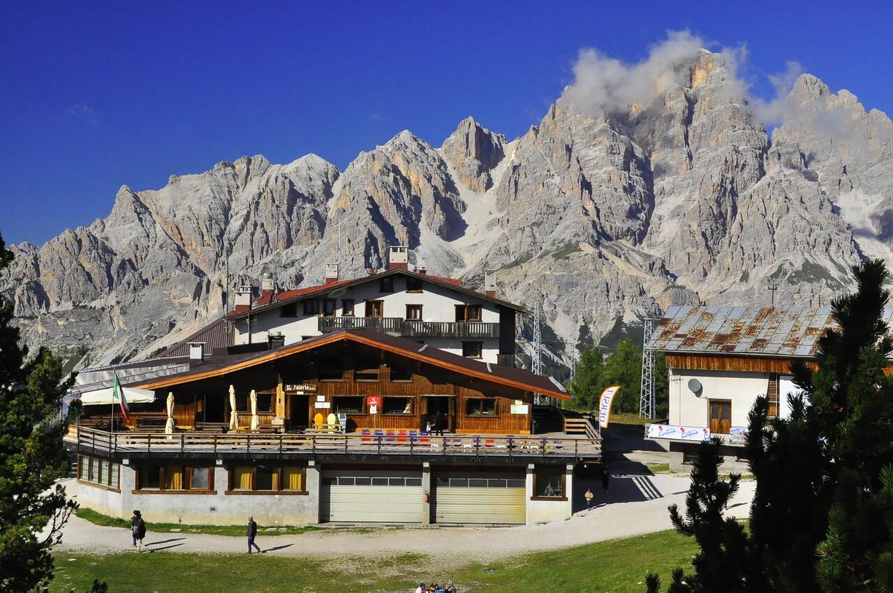 ski chalet above Cortina