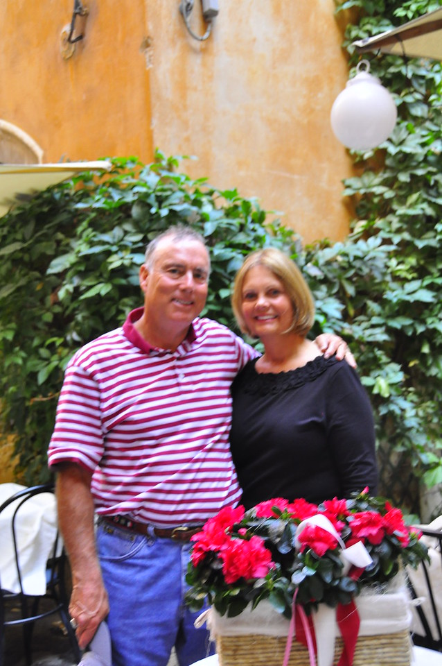 Skip and Sue before our last dinner out in Verona