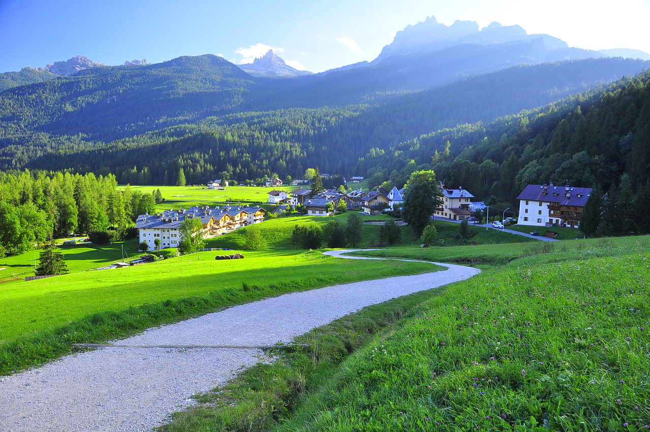 Cadema village on the Cortina walk path