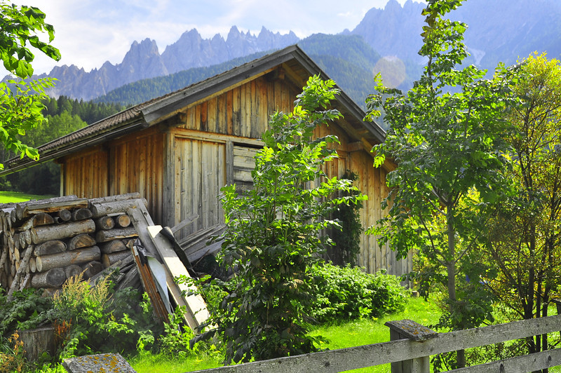 woodshed outside San Candido