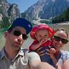 Lago di Braies family photo