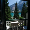 View from our room at the Hotel Lago di Braies