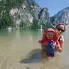 A short dip in icy cold Lago di Braies