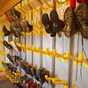 Boot drying room at Rifugio Sennes