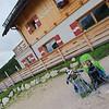 Oscar and Bertrand ready for the day's trek from Rifugio Sennes to Rifugio Fodara Vedla
