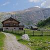 Easy walking through pastureland between Rifugio Lavarella and Capanna Alpina