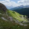 Winding descent towards Rifugio Dibona from Forcella Col dei Bos