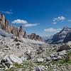 On the way to Forcella Col dei Bos and Rifugio Dibona from Rifugio Lagazuoi