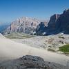 Starting the long descent from Rifugio Lagazuoi