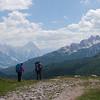 On the descent towards Rifugio Dibona from Forcella Col dei Bos