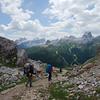 On the trail to Rifugio Dibona