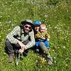 In the wildflowers behind Rifugio Cinque Torri