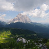 Views as we climb to Rifugio Coldai