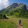 Beautiful July day on the trail to Rifugio Coldai