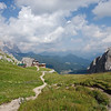 Rifugio Coldai and the surrounding mountains