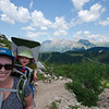 On the trail to Rifugio Coldai on a very hot day!