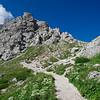 Climbing up to Lake Coldai