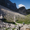 Scree-filled trail at the base of Monte Civetta