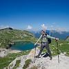 Yann admiring the views of Lake Coldai