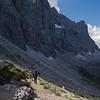 The perilous trail along Monte Civetta