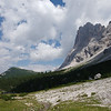 Finishing a long day of walking as we approach Rifugio Vazzoler