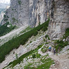 View near Forcella Col dell'Orso (Pass of the Bear)