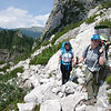 Making our way to the second pass of the day - Forcella del Camp (1933m)