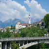 View of Belluno from the banks of the Piave River