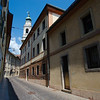 View of the Belluno Cathedral from a side street